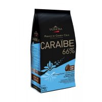 Горький шоколад Пюр Караиб 66% какао, Valrhona, 3 кг.