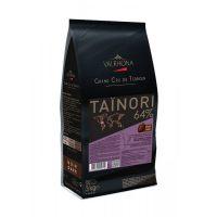Горький шоколад Valrhona Тайнори 64%, 3 кг.