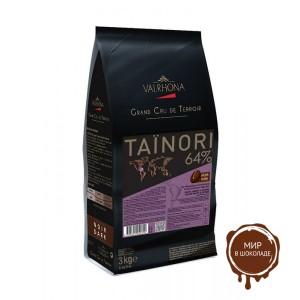 Горький шоколад Тайнори, 64% какао, Valrhona, 3 кг.