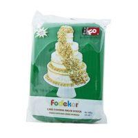 Сахарная мастика для покрытия и декорации зеленого цвета FO Coating Dough Green, 1 кг.