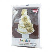 Сахарная мастика для покрытия и декорации коричневого цвета FO Coating Dough Brown , 1 кг.