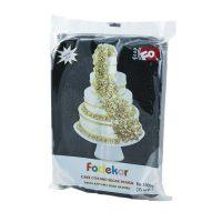 Сахарная мастика для покрытия и декорации черного цвета FO Coating Dough Black, 1 кг.