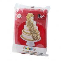Сахарная мастика для покрытия и декорации красного цвета FO Coating Dough Red, 1 кг.
