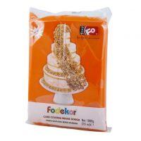 Сахарная мастика для покрытия и декорации оранжевого цвета FO Coating Dough Orange, 1кг.