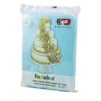 Сахарная мастика для покрытия и декорации голубого цвета FO Coating Dough Blue, 1 кг.