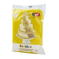 Сахарная мастика для покрытия и декорации желтого цвета FO Coating Dough Yellow, 1 кг.