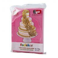 Сахарная мастика для покрытия и декорации розового цвета FO Coating Dough Pink, 1 кг.