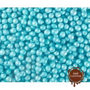 Бирюзовые сахарные жемчужины, Sosa, 500 г.
