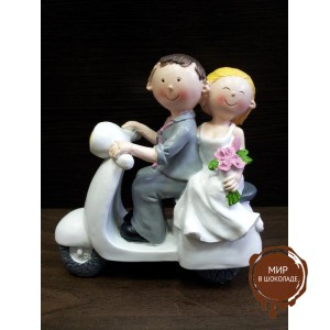 """Свадебная фигурка - """"Свадебная пара на мопеде"""" (28969/p), шт."""