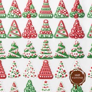 Форма-лист для декора БЛИСТЕРШОК рождество 50,  короб 10 шт.
