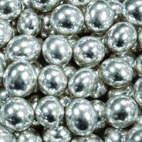 Шарики сахарные серебро 5 мм. , пакет 1 кг.