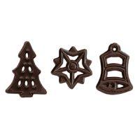 Декор из темного шоколада НОВОГОДНЕЕ, 300 шт.