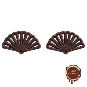 Украшение шоколадное ВЕЕР темный, 400 шт.