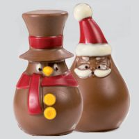 Форма для шоколадных 3D фигурок САНТА и СНЕГОВИК, 1 шт.