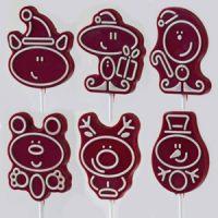 Форма для шоколадных лоллипопсов Новый Год, 1 нб.
