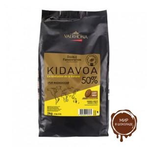 Черный шоколад Кидавоа (с бананом) 50% какао, Valrhona, 3 кг.