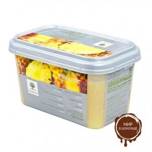 Замороженное пюре Ананас в блоке Ravifruit, Франция, 1 кг.