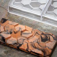 Форма для шоколадных плиток БРУСЧАТКА, короб 1 шт.
