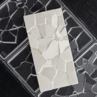 Форма для шоколадных плиток ОСКОЛКИ, короб 1 шт.