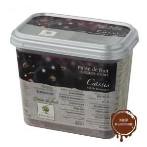 Замороженное пюре гранулированное Черная смородина Ravifruit, Франция, 1 кг.