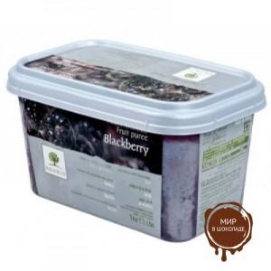 Замороженное пюре Ежевика в блоке Ravifruit,1 кг.