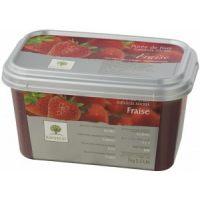 Замороженное пюре Лесная земляника в блоке Ravifruit, 1 кг