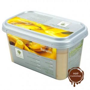 Замороженное пюре Банан в блоке Ravifruit, Франция, 1 кг.