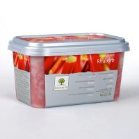 Замороженное пюре Ревень в блоке Ravifruit, 1 кг.